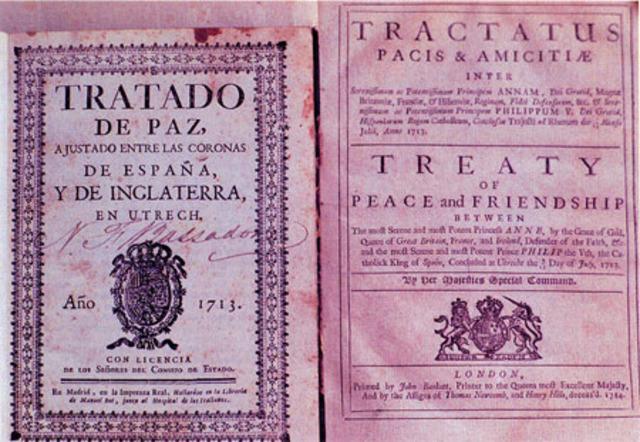 Firma del tratado de Utrecht