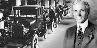 Henry Ford Hacia énfasis en cadenas de producción.