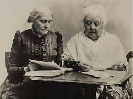 Lucretia Mott y Elizabeth Cady Stanton