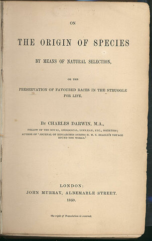 Charles Darwin's On the Origin of Species is Published