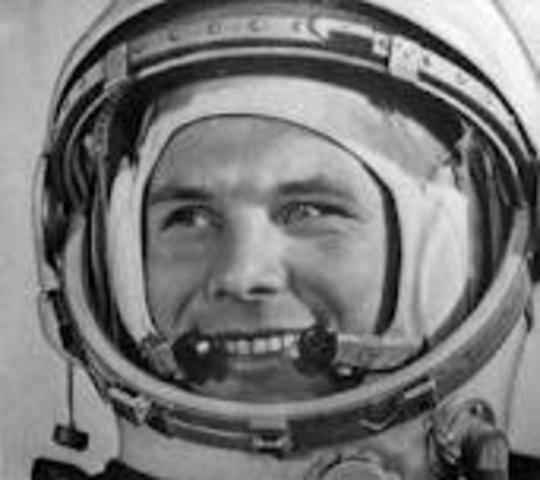 Cosmonaut Yuri Gagarin first in space