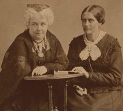 ELIZABETH CADY STANTON Y LUCRECIA MOTT