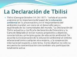 Conferència internacional de l'educació ambiental.