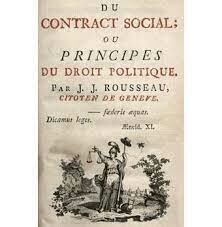 Publicación de el contrato social de Rousseau