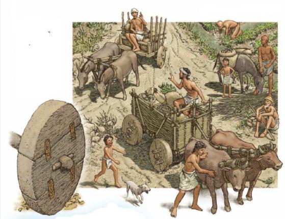 Se inventa la rueda en Mesopotamia