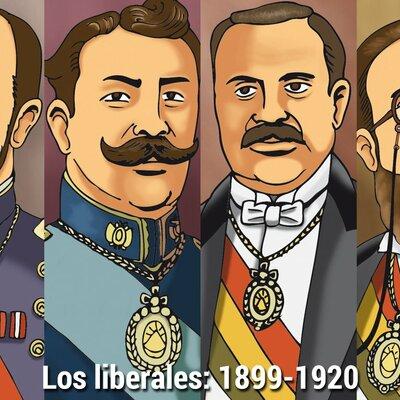 GOBIERNOS LIBERALES(1899-1920) timeline