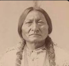 Sitting Bull face's the U.S military