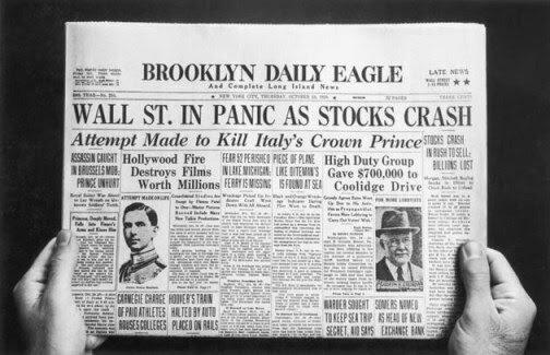 Crisis del modelo capitalista (felices 20 y crash)