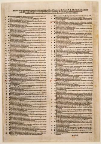 Lutero publica su 95 Tesis- Renacimiento