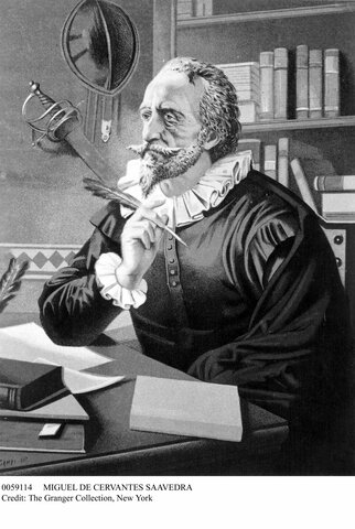 Cervantes escribe el Quijote- Barroco