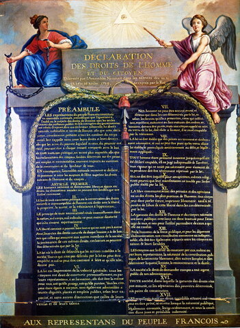 Approval of the Declaration of the Rights of Man
