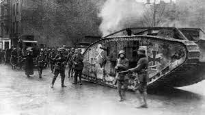 Final de la Primera Guerra Mundial con la firma del Tratado de Versalles