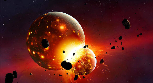 Maa kokkupõrge planeet Theiaga ja Kuu teke