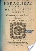 Heráclides Póntico ( 390 a.c hasta 310 a.c )