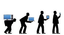 Evolución de las tecnologías de la información timeline