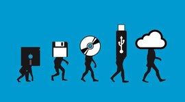 Evoluvion Medios de Almacenamiento timeline