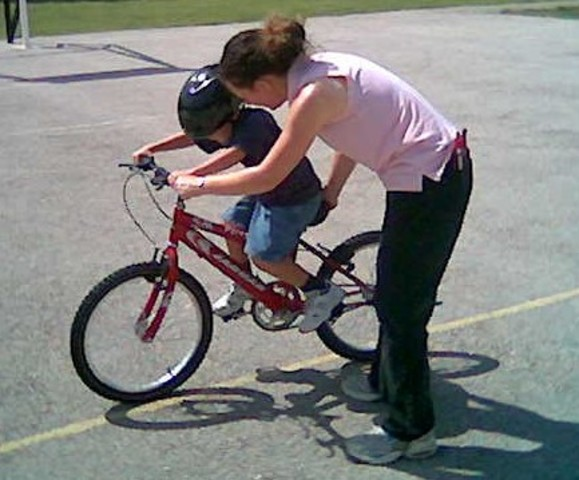 Montar el bicicleta