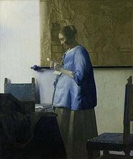 La muchacha de azul leyendo una carta