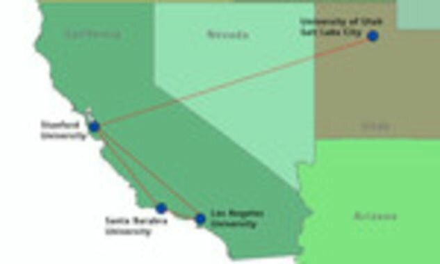 Massachusetts connected to California