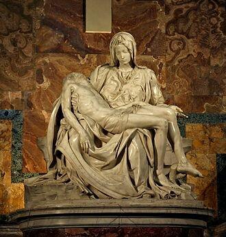 Se coloca la Pietà de Michelangelo en la basílica de San Pedro de Roma.
