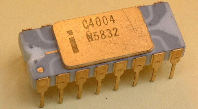 Creación del chip intel 4004