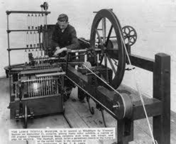 Invención de los telares mecánicos