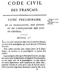 Napoleonic Code is established