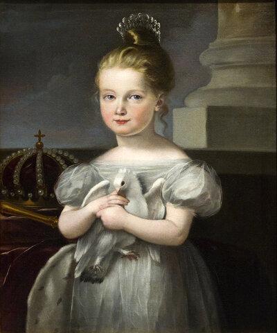 Hereda el trono Isabel II (con 3 años)