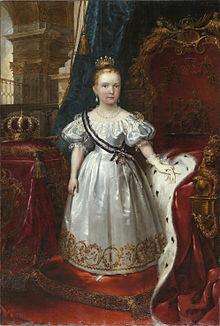 Reinado de Isabel II (con 13 años)