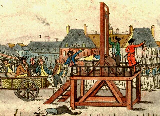 Maximillian Robespierre's execution
