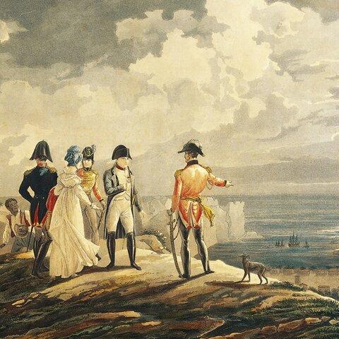 Napoleon is exiled to Elba