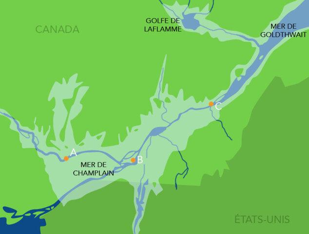 """""""Formation"""" du fleuve St-Laurent (recul de la mer de Champlain)"""