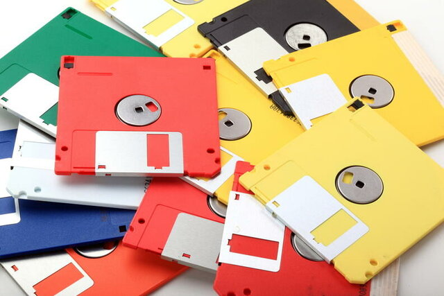 Floppy disks o disquete.