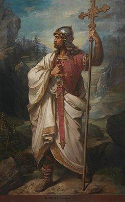Pelayo se convierte en líder de los astures e hispano-romanos