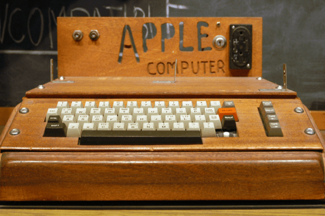 Steve Wozniak and Steve Jobs and Apple I computer