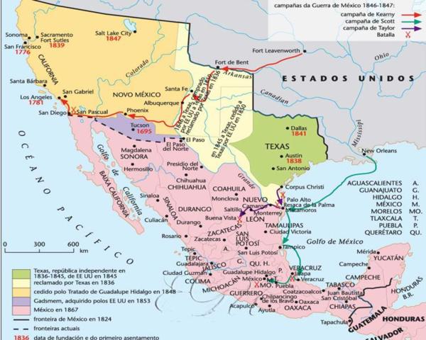 Invasión de Nuevo México y California