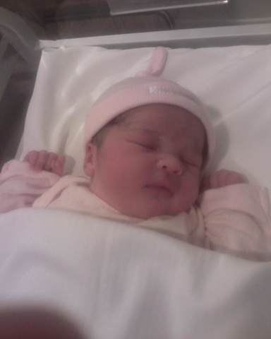 My daughter was born