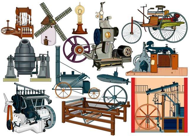 principales descubrimientos e inventos de la revolución industrial