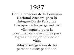 SE CREA LA COMISIÓN NACIONAL P/ LA INTEGRACIÓN DE PERSONAS CON DISCAPACIDAD