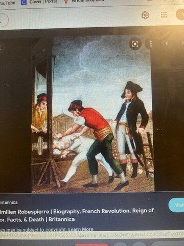 Maximilian  Robespierre's execution