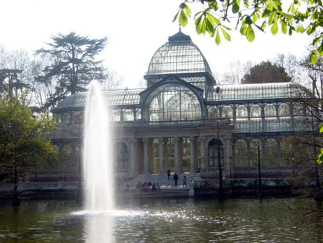 Construcción Palacio de Cristal