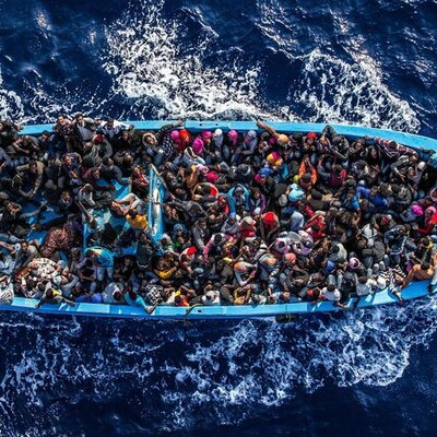 Refugees in Kozani. timeline