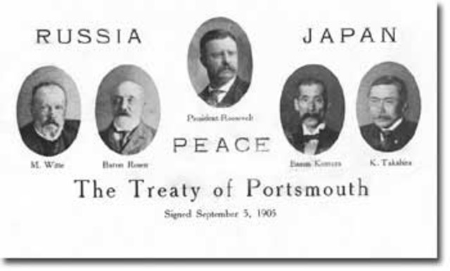 Roosevelt negociates Portsmouth treaty