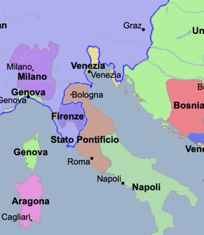 Venezia stato territoriale italiano più vasto