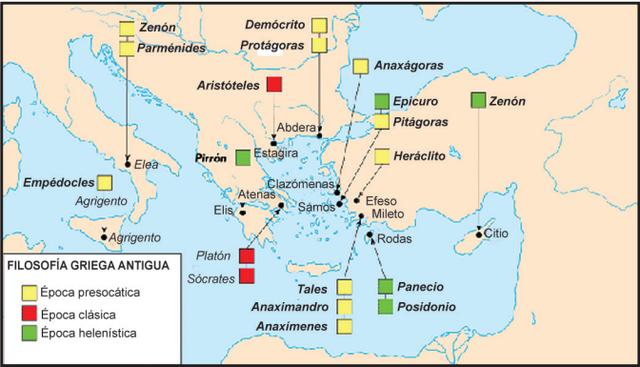 Geografía de la historia de la filosofía