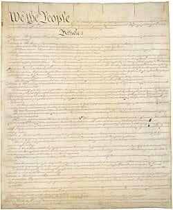 La Constitución de 1787.