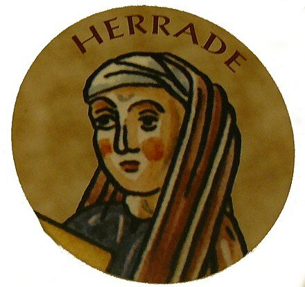 Herrada de Landsberg. (1125-1195). - Compositora.
