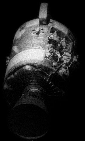 Explosion of the spaceship Apollo 13