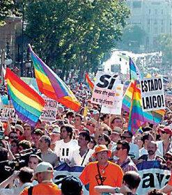 Matrimonio homosexual en España.