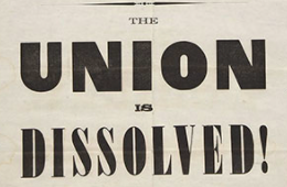 South Carolina secedes from the United States